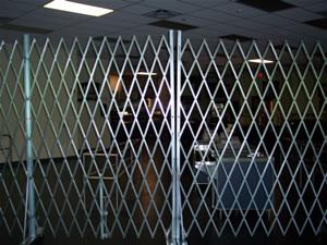 area blocking with scissor gates