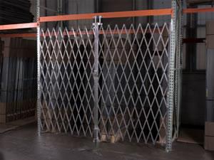 secured area scissor gate
