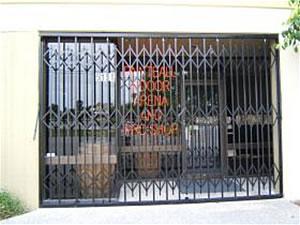 store front scissor gate