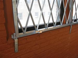 window with scissor gates